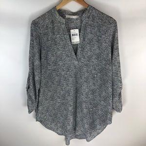 New Lush Black/White Top Size: Large